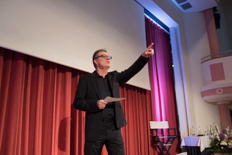 Robert Spengler auf der Bühne