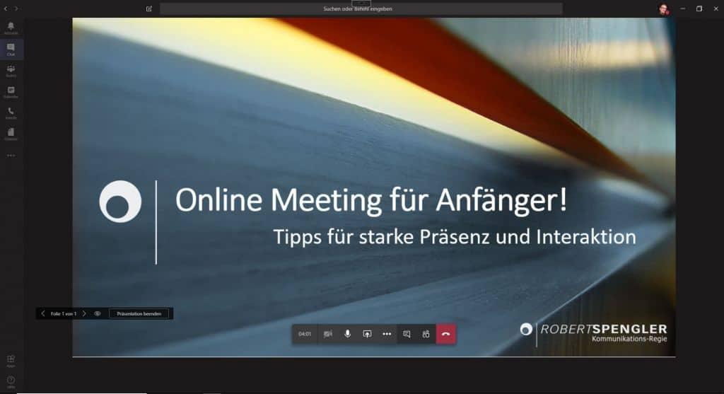 Online Meetings für Anfänger