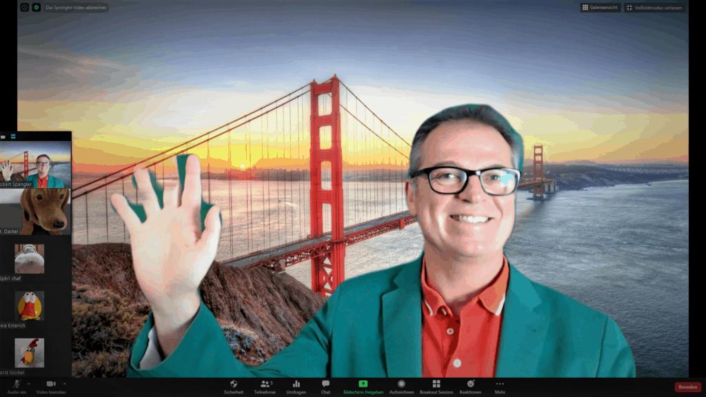 Golden Gate Green Screen Zoom